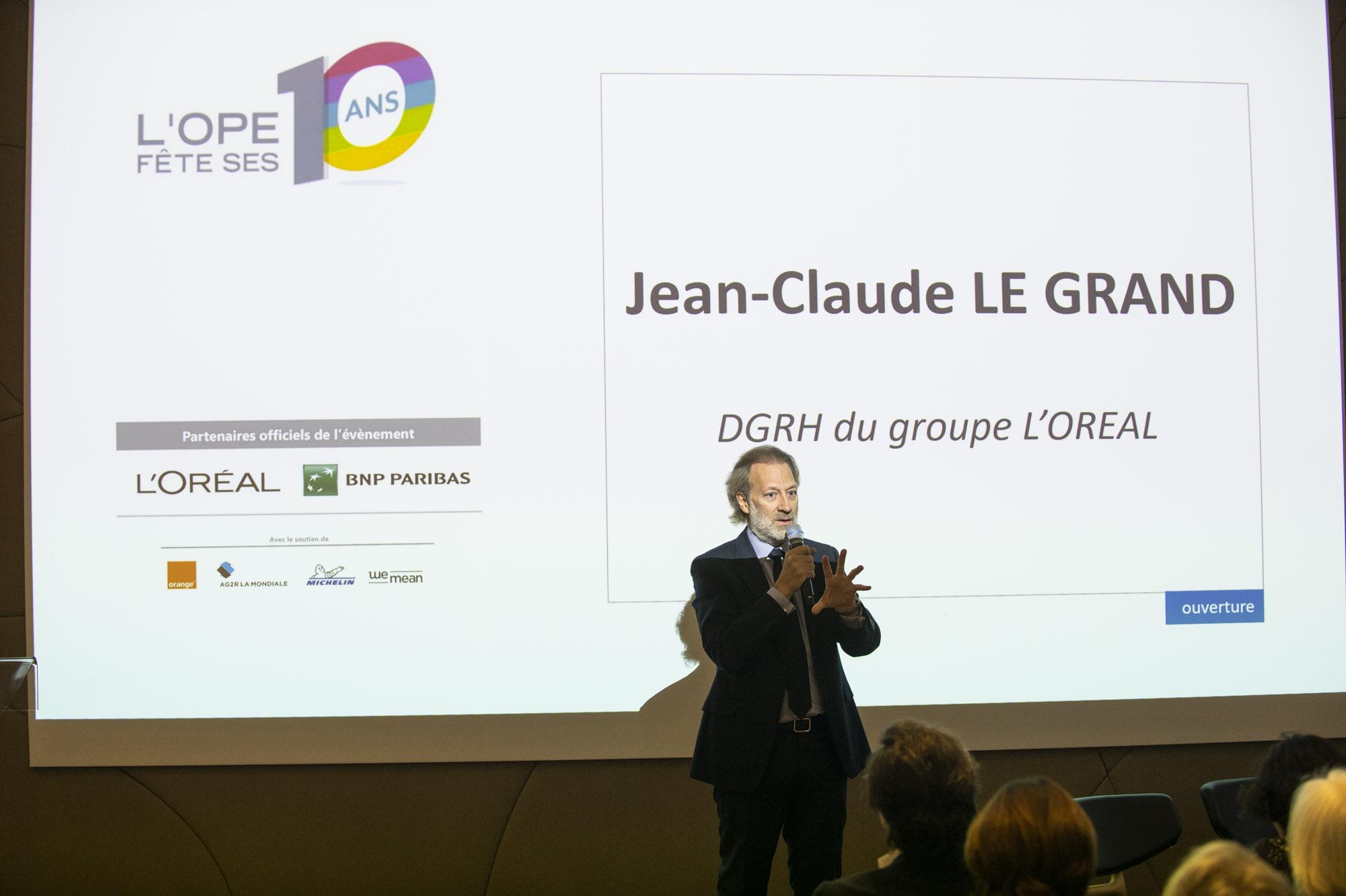 20 ans de l'OPE au siege de l'Oreal a Levallois-Perret. Jean-Claude Le Grand, DGRH du groupe l'Oreal. Le 22/01/2019